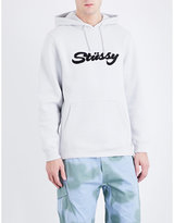 Stussy Logo appliqué cotton-blend hoody