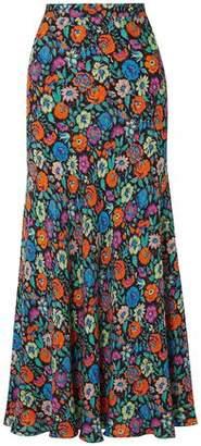 Etro Floral-print Crepe Maxi Skirt