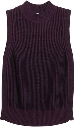 Autumn Cashmere Girl's Braid Knit Sleeveless Sweater, Size 8-16