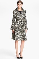 Alice + Olivia 'Charla' Leopard Print Belted Trench