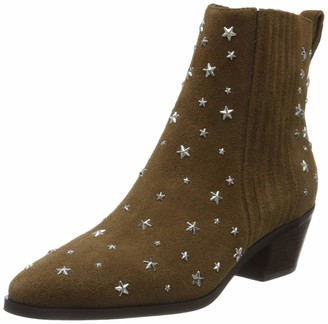 Liu Jo Women's Bonnie 07-Bootie Kid Suede Cowboy Boots