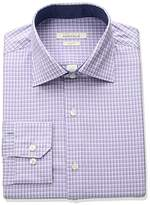 Perry Ellis Men's Slim Fit Adjustable Collar Perf Mini Check Dress Shirt