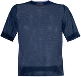 Le Ciel Bleu sheer knitted top