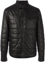 Tod's leather jacket - men - Lamb Skin/Polyester/Spandex/Elastane/Virgin Wool - M