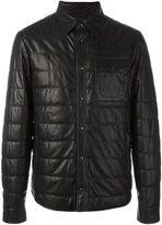 Tod's leather jacket - men - Lamb Skin/Virgin Wool/Spandex/Elastane/Polyester - M