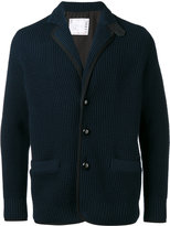 Sacai chunky knit cardigan - men - Cotton/Acrylic/Nylon/Wool - 2