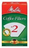 Melitta 100-Count Number 2 White Super Premium Coffee Filters