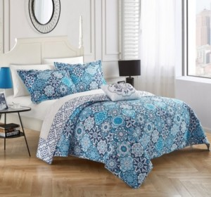 Chic Home Aspen 4 Piece Queen Quilt Set Bedding