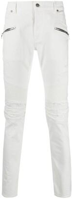 Balmain Biker-Fit Slim Jeans