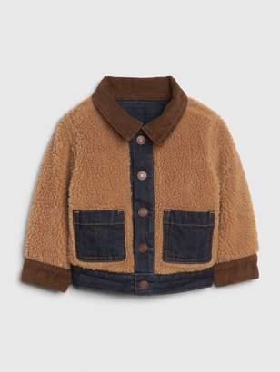 Gap Baby Reversible Denim Sherpa Jacket