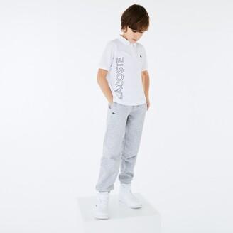 Lacoste Boys' SPORT Branded Breathable Pique Polo Shirt