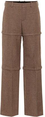 Balenciaga Checked wool pants