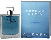 Azzaro Loris Chrome United Eau de Toilette Spray for Men, 3.4 Ounce