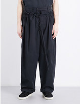 Craig Green Drawstring tailored-fit cotton-blend trousers