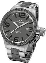 TW Steel CB205 Men's Canteen Grey Dial Two Tone Titanium Plated Steel Bracelet Automatic Watch by
