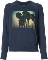 NSF palm tree print sweatshirt - women - Cotton/Spandex/Elastane/Modal - S