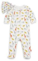 Offspring Baby Boy's Two-Piece Safari Fun Footie & Hat Set