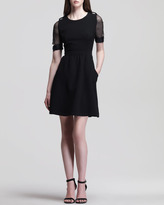 Luella Nonoo Flared Crepe Dress