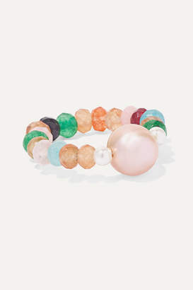 Anissa Kermiche Couleur Caviar Pearl And Agate Ring - Gold