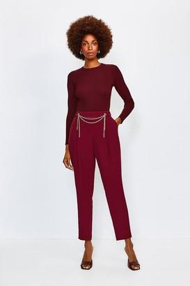 Karen Millen Chain Detail Peg Trouser