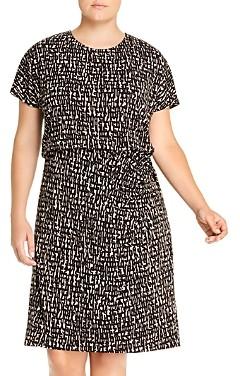 Nic+Zoe Plus Letterpress Twist-Waist Dress