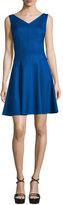 Michael Kors Sleeveless V-Neck Dance Dress, Lapis