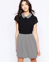 Wal G Skater Dress With Collar