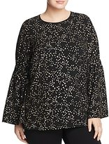 MICHAEL Michael Kors Star Print Bell Sleeve Top