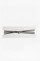 French Connection Skinny Suede Multi Wrap Choker With Ball