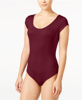 Material Girl Juniors' Cap-Sleeve Bodysuit, Only at Macy's