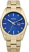 Oasis Women's Quartz Watch with Dial Analogue Display and Gold Other Bracelet B1368