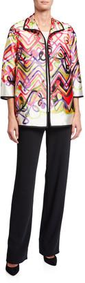 Caroline Rose Petite Flying Colors Printed Jacket