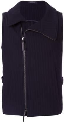 Giorgio Armani side zipped waistcoat