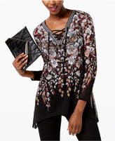 INC International Concepts Lace-Up Tunic, Created for Macy's