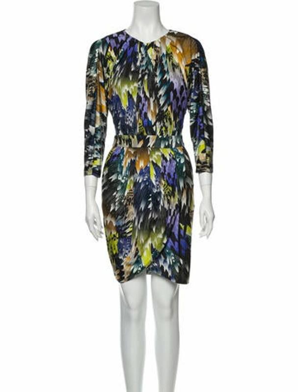 Matthew Williamson Silk Mini Dress Black