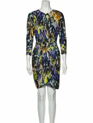 Matthew Williamson Silk Mini Dress Black