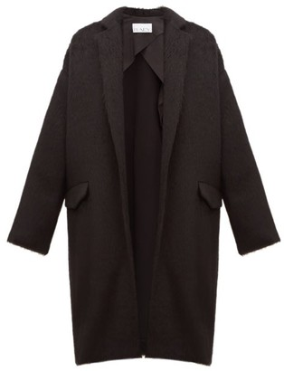 Raey Notch-lapel Alpaca-blend Blanket Coat - Womens - Black
