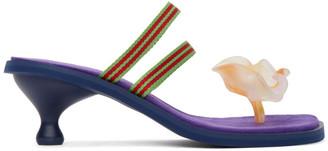 KIKO KOSTADINOV Purple Camper Edition Flower Heeled Sandals