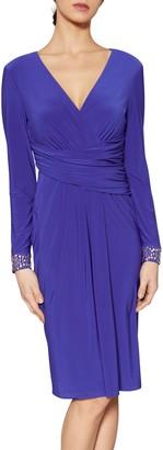 Gina Bacconi Louisa Beaded Cuff Dress
