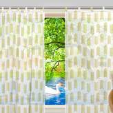 2-Piece: JSTEL Arrow Pattern Print Tulle Polyester Door Voile Window Curtain Sheer Curtain Panels For Bedroom Decor Living Room Drape Two Panels Set