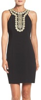 Taylor 8599M Embellished Neck Sleeveless Sheath Dress