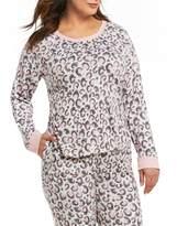Kensie Plus Animal-Printed Jersey Knit Sleep Top