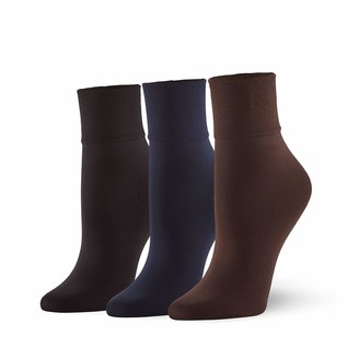 Hue Women's Sleek Trouser Sock 3 Pair Pack