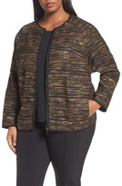 Lafayette 148 New York Plus Size Women's Alexa Tweed Jacket