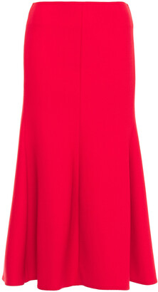 Victoria Beckham Fluted Crepe Midi Skirt