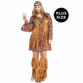 BuySeasons Peace And Love Hippie 3-pc. Dress Up Costume Plus