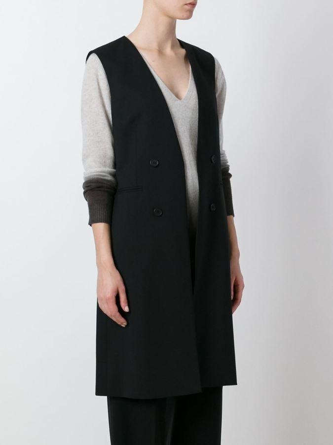 Theory sleeveless coat