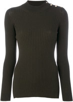 Versace ribbed top - women - Polyester/Wool - 40