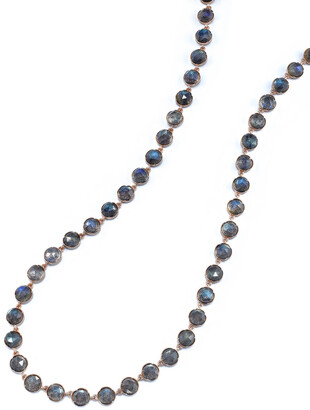 Irene Neuwirth Rose Cut Labradorite Chain Rose Gold Necklace