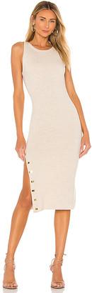 Alice + Olivia Jenner Crew Neck Slim Dress